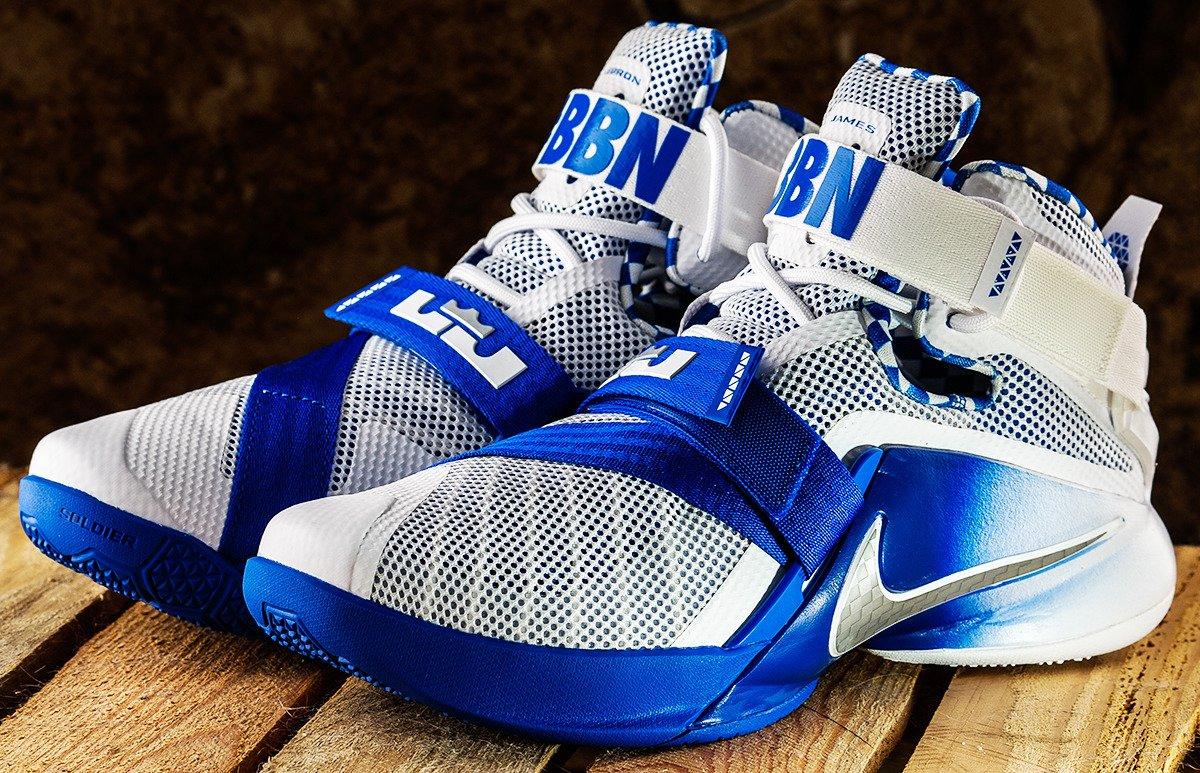 Nike LEBRON SOLDIER IX PRM Shoes - 749490-104 | Basketball ...