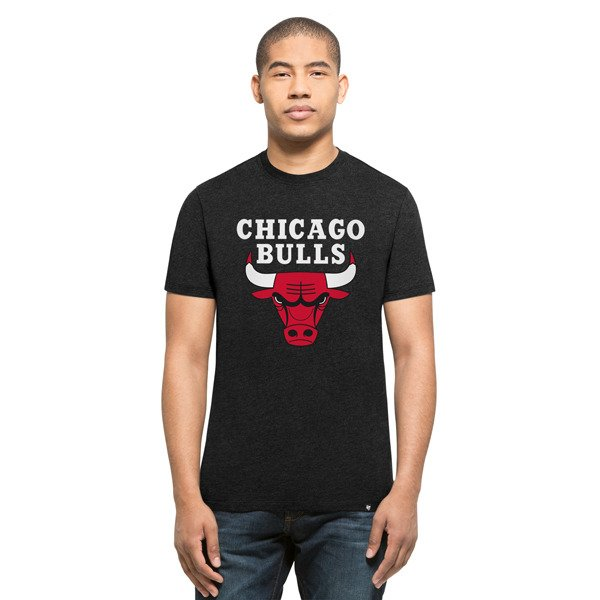 47 brand nba chicago bulls t shirt 306365 basketball clothing casual wear t shirts. Black Bedroom Furniture Sets. Home Design Ideas