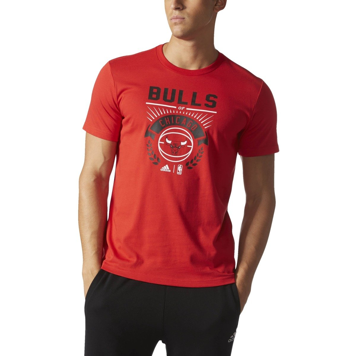 adidas chicago bulls t shirt s96778 basketball. Black Bedroom Furniture Sets. Home Design Ideas