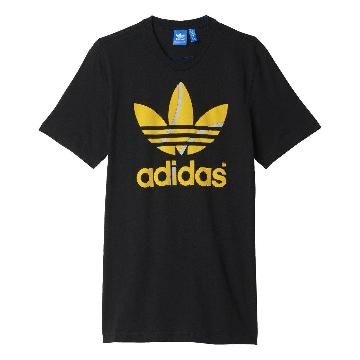 Adidas flock tennis black original t shirt aj7105 for Adidas custom t shirts