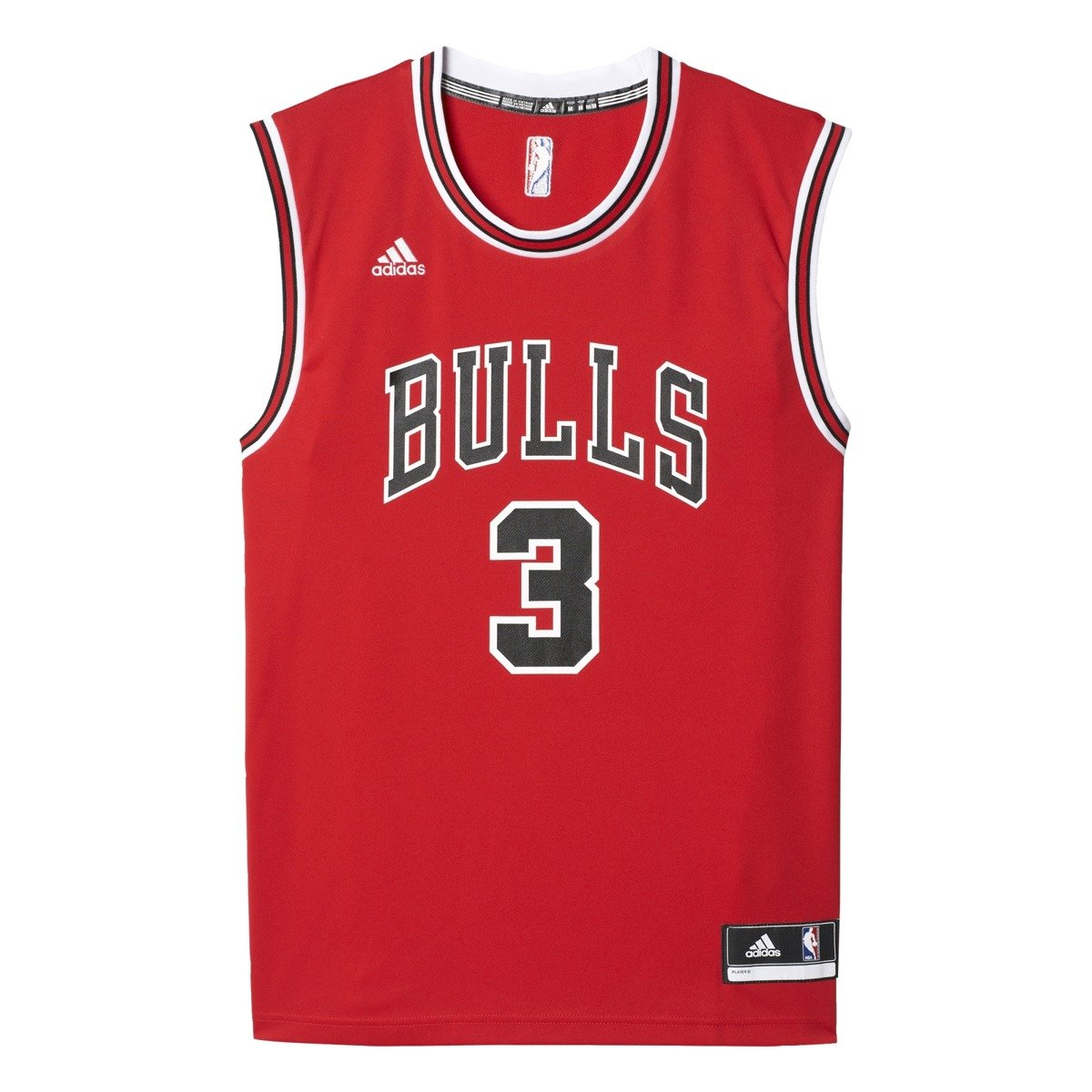 adidas nba chicago bulls replica 3 wade t shirt cc2552 basketball clothing casual wear. Black Bedroom Furniture Sets. Home Design Ideas