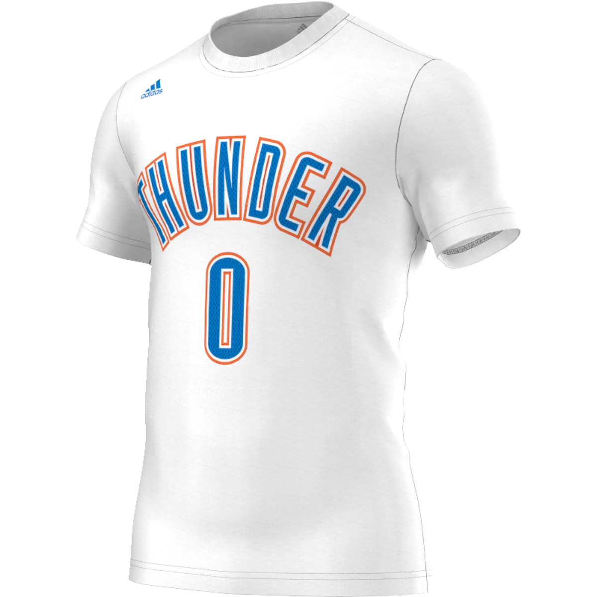 Adidas nba okc thunders 0 t shirt ap4181 basketball for T shirt printing okc