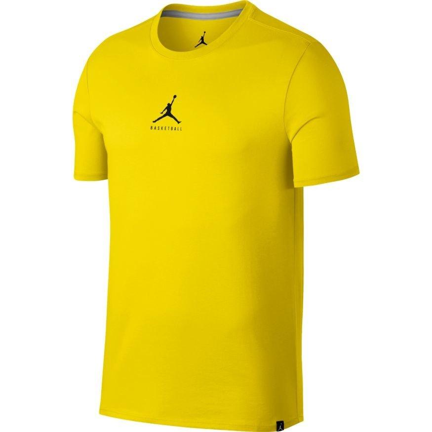 air jordan basketball jumpman t shirt 840394 741 yellow. Black Bedroom Furniture Sets. Home Design Ideas