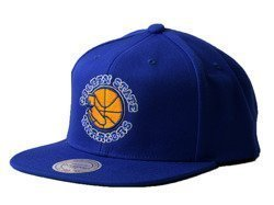 Mitchell & Ness Wool Solid NBA Golden State Warriors Snapback Cap - NZ979 GOLWAR ROY