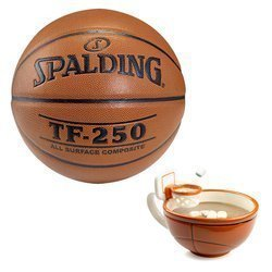 Spalding Basketball TF-250 Indoor/Outdoor + MAX'IS Creations Cup - Basketball The Mug With A Hoop