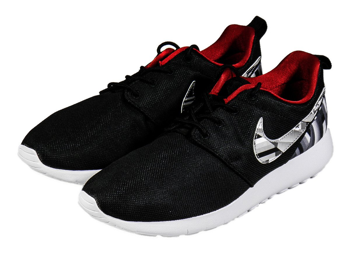 free shipping 1f1bd 6553a Nike Roshe One Print Wolf Grey/Black Shoes - 677782-012