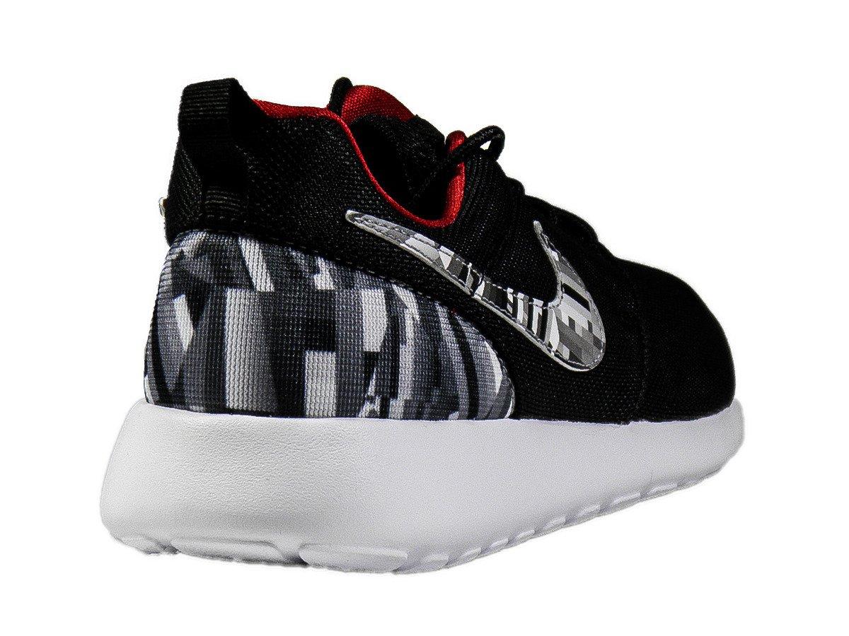 free shipping 24cdb 8155f Nike Roshe One Print Wolf Grey/Black Shoes - 677782-012