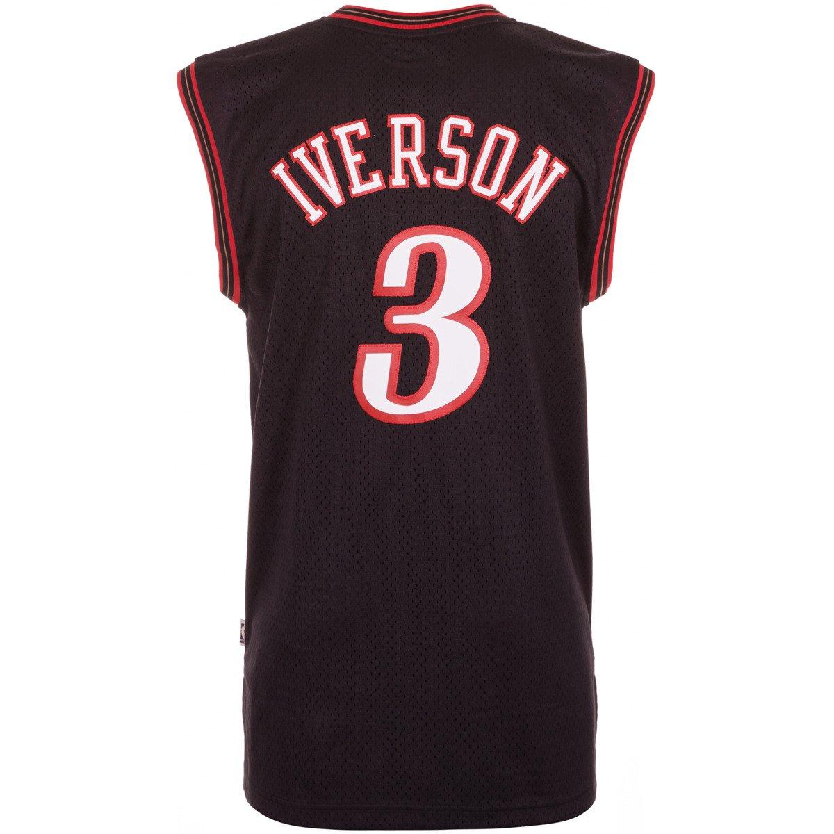 fb6c2b255a88 Adidas Allen Iverson 3 Philadelphia NBA Swingman Hardwood Classics Jersey -  A46381 . Philadelphia 76ers ...