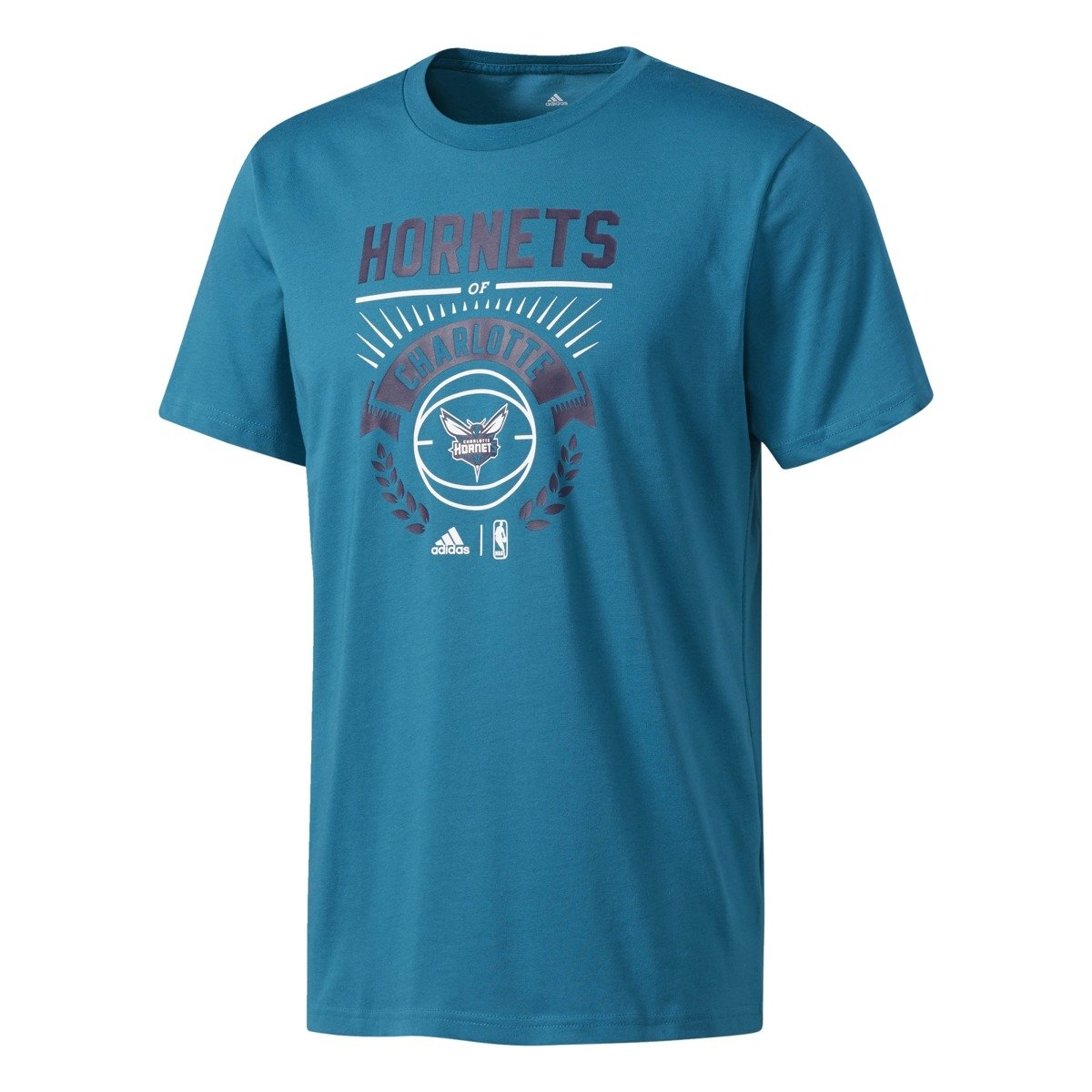 Adidas nba charlotte hornets t shirt bp7343 basketball for Adidas custom t shirts