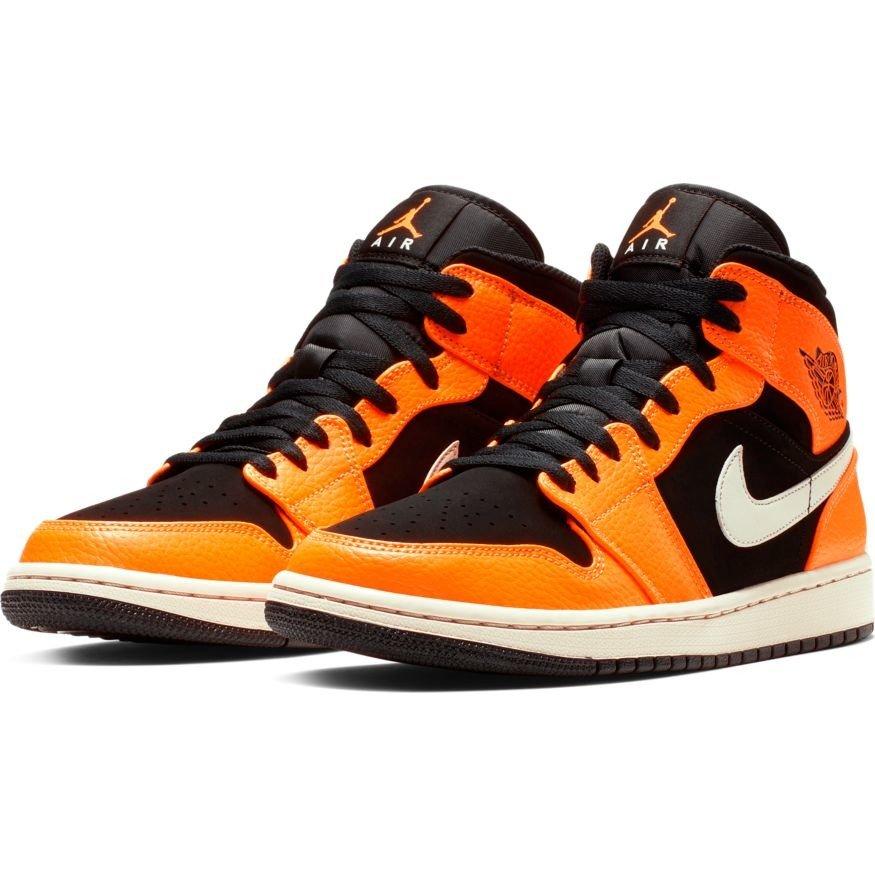 4ee9def91a8c Air Jordan 1 Mid Black Orange Shoes