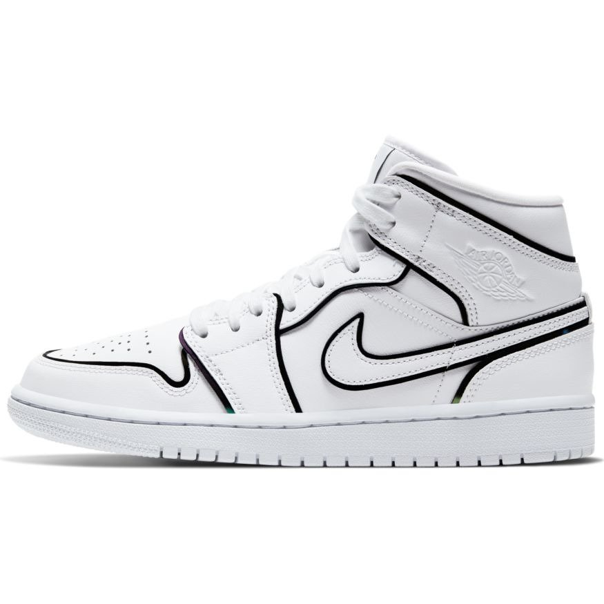 Air Jordan 1 Mid Se Iridescent Reflective Shoes Ck6587 100