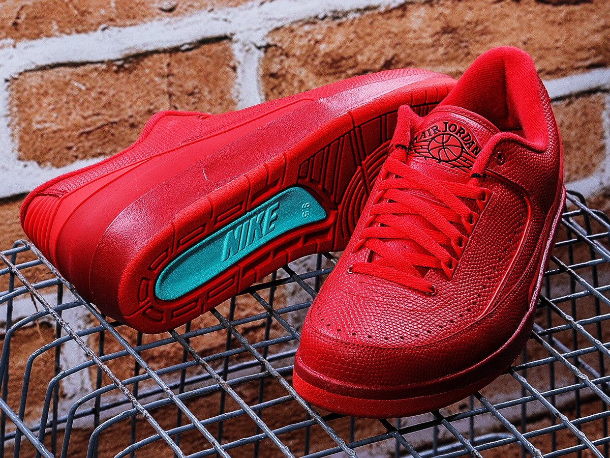 1526d7e2302c29 ... Air Jordan 2 Retro Low Gym Red Shoes - 832819-606 ...