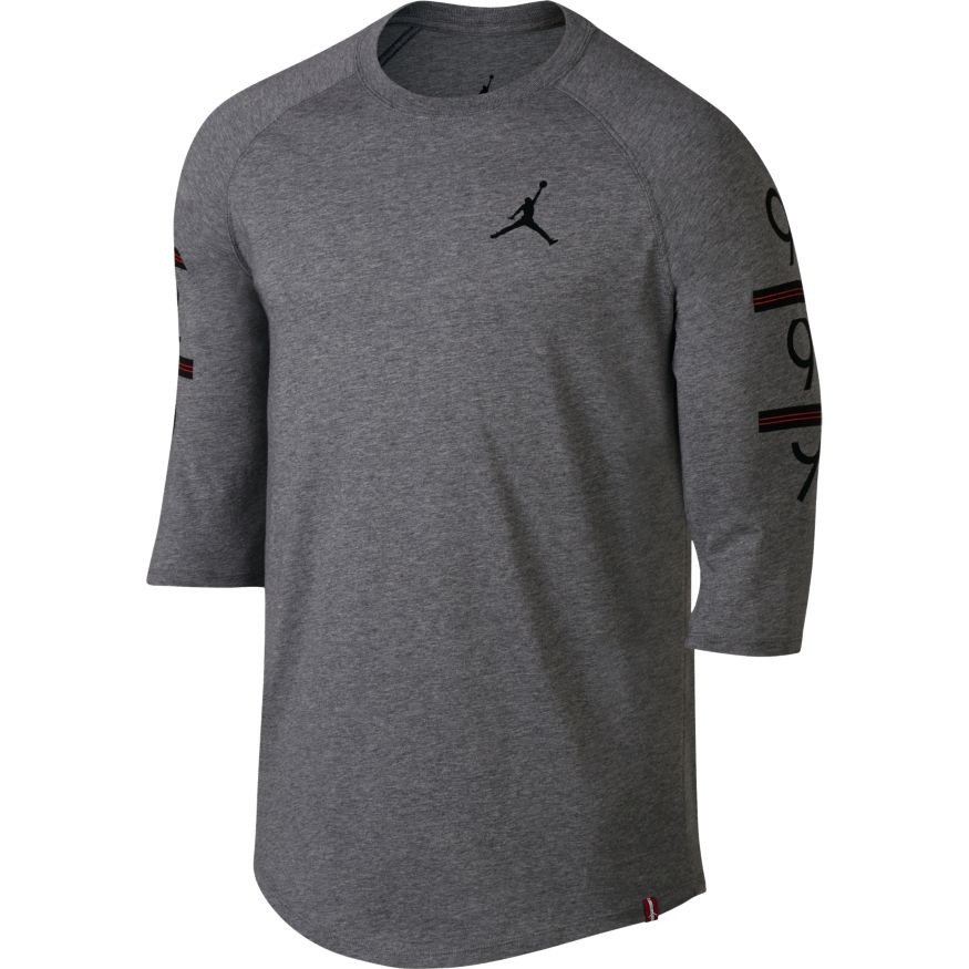 18601216f1e Air Jordan 6 Times 3/4 Raglan T-Shirt - 862423-091 Carbon Heather |  Clothing \ Casual Wear \ T-Shirts | Sklep koszykarski Basketo.pl