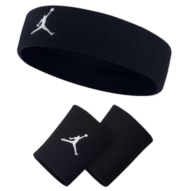 Air Jordan Jumpman Set - Headband   Wristbands Black  775b72914ce