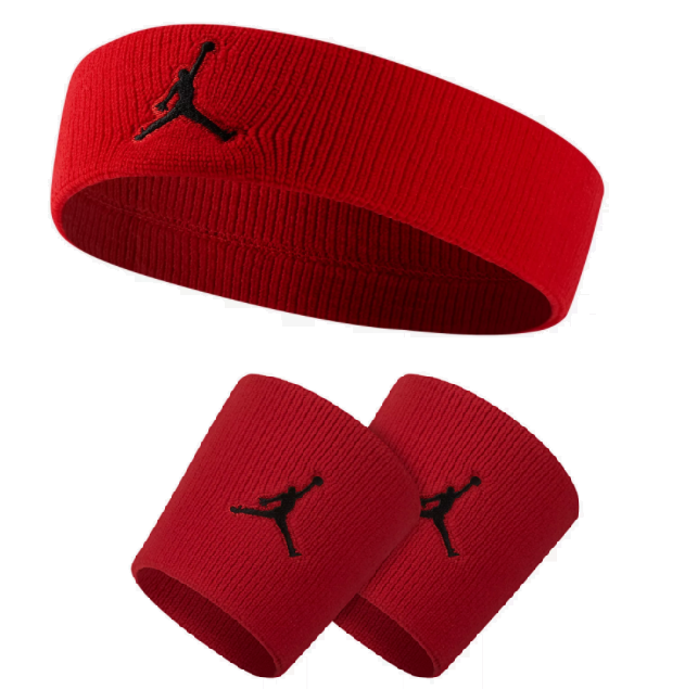 Air Jordan Jumpman Set - Headband   Wristbands Gym Red  e59f1361fed
