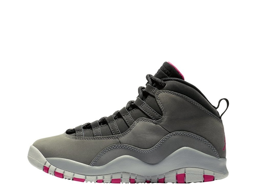 finest selection 47724 1d0d7 Air Jordan Retro 10 GS Smoke Grey Shoes - 487211-006