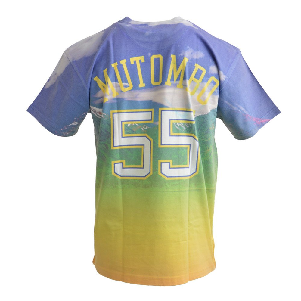info for 5a7c2 fb1da City Pride M&N Tee Denver Nuggets Dikembe Mutombo T-shirt -  BMTRKT18007-DNUROYADMO