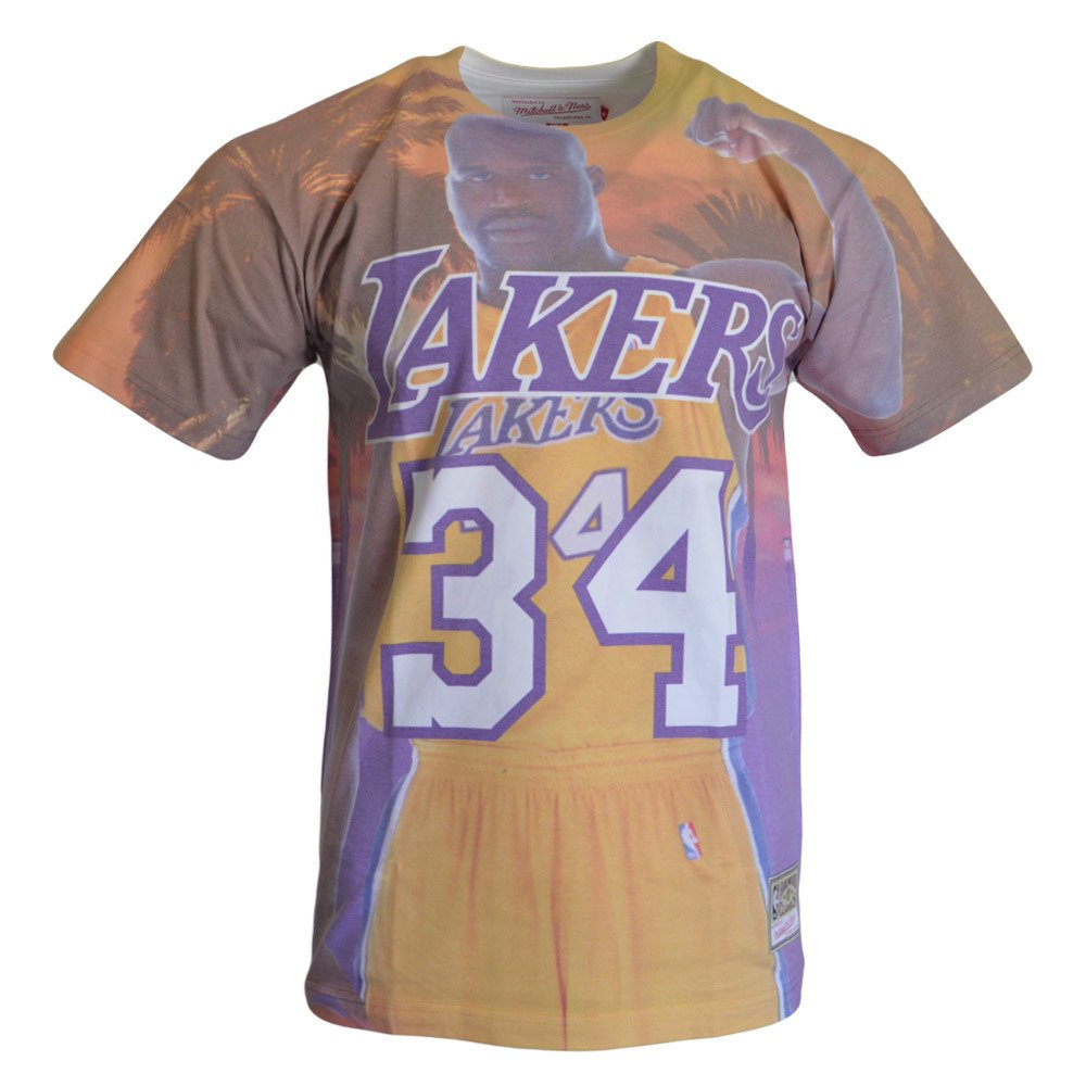 purchase cheap 1bdcb 6bff5 City Pride M&N Tee Los Angeles Lakers Shaquille O'Neal T-shirt -  BMTRKT18007-LALPURPSON