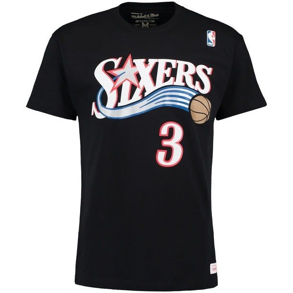 buy online 82a94 0c646 Mitchell & Ness Hardwood Classics Philadelphia 76ers Allen Iverson T-Shirt  - MN-NBA-3AIVERSON-PHIL76