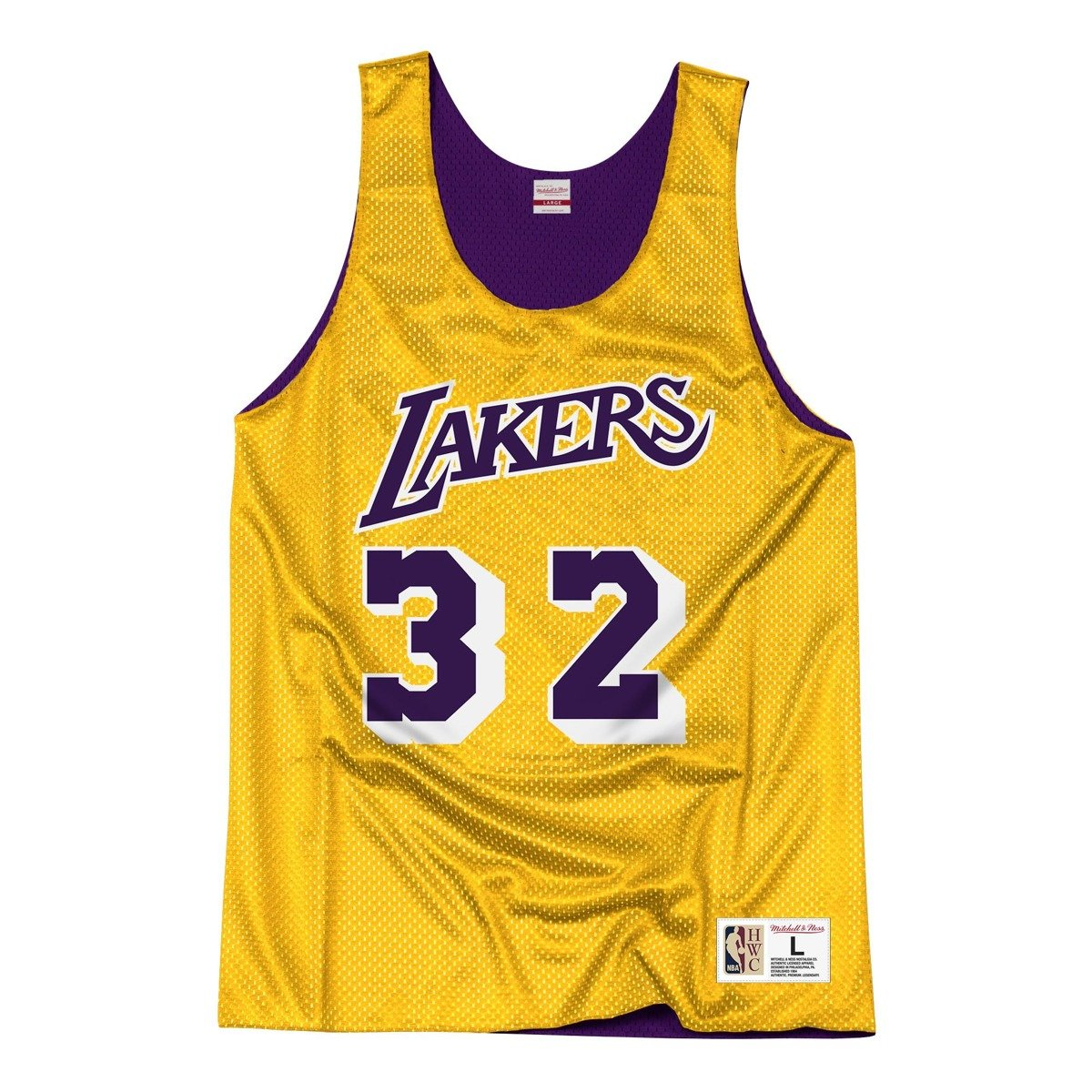 the best attitude 7150f 92ee4 Mitchell & Ness LA Lakers NBA Reversible Mesh Tank Earvin Johnson  NNRMDA18007-LALLGPR1EJH84
