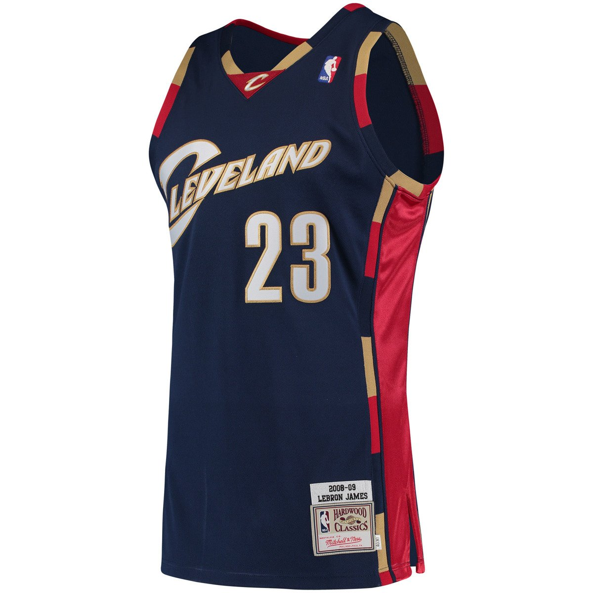official photos cb012 2a0ec Mitchell & Ness LeBron James 2008-09 NBA Hardwood Classics Authentic  Cleveland Cavaliers Jersey