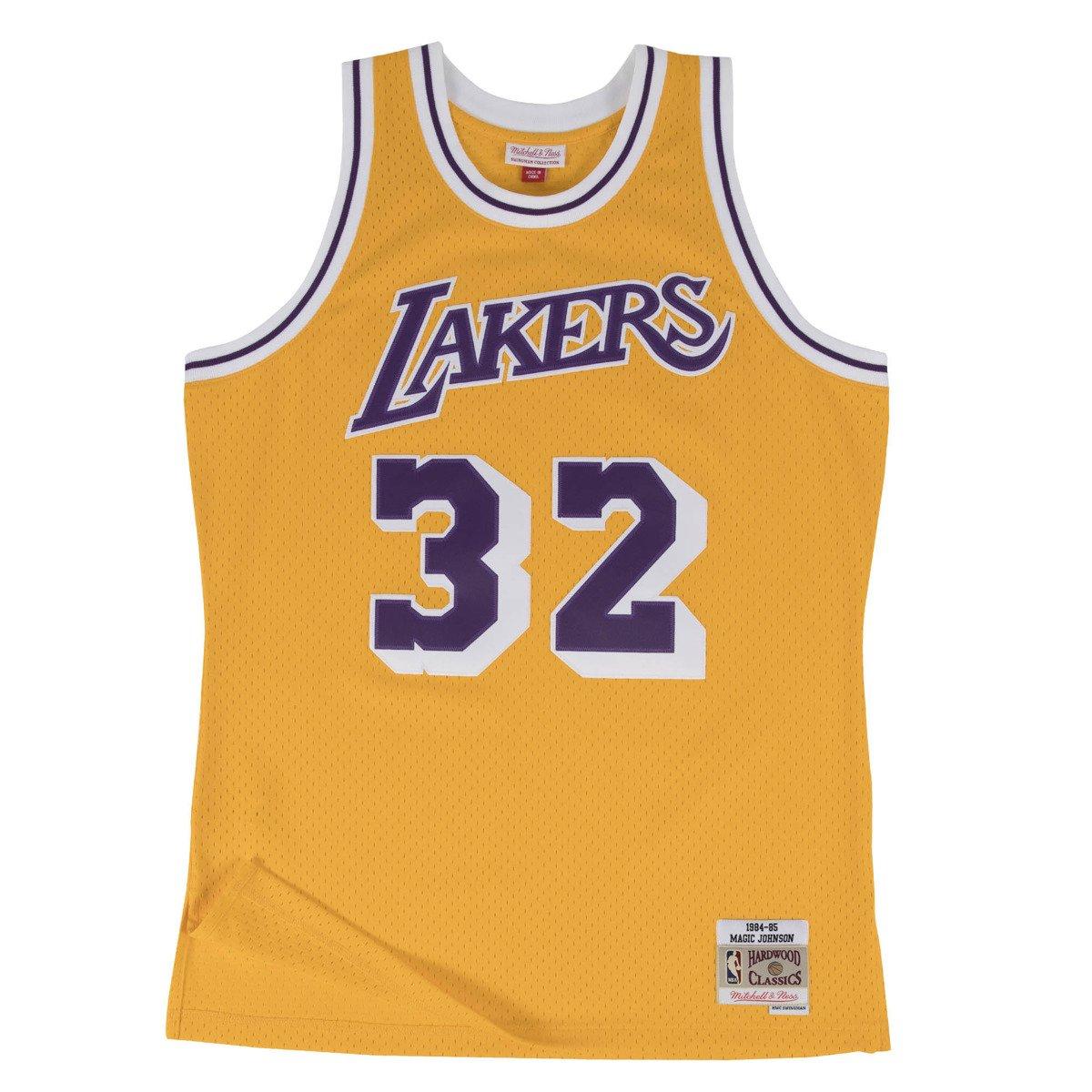 new style 82c8b 32989 Mitchell & Ness Magic Johnson 1984-85 NBA Hardwood Classics Swingman Los  Angeles Lakers Jersey