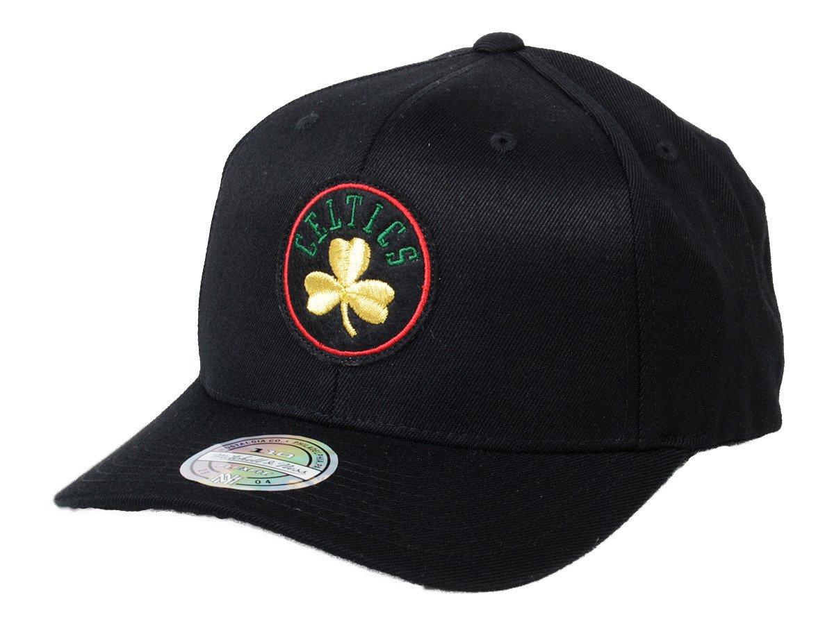 59b2d43cb43b6 Mitchell   Ness NBA Boston Celtics Luxe 110 Snapback