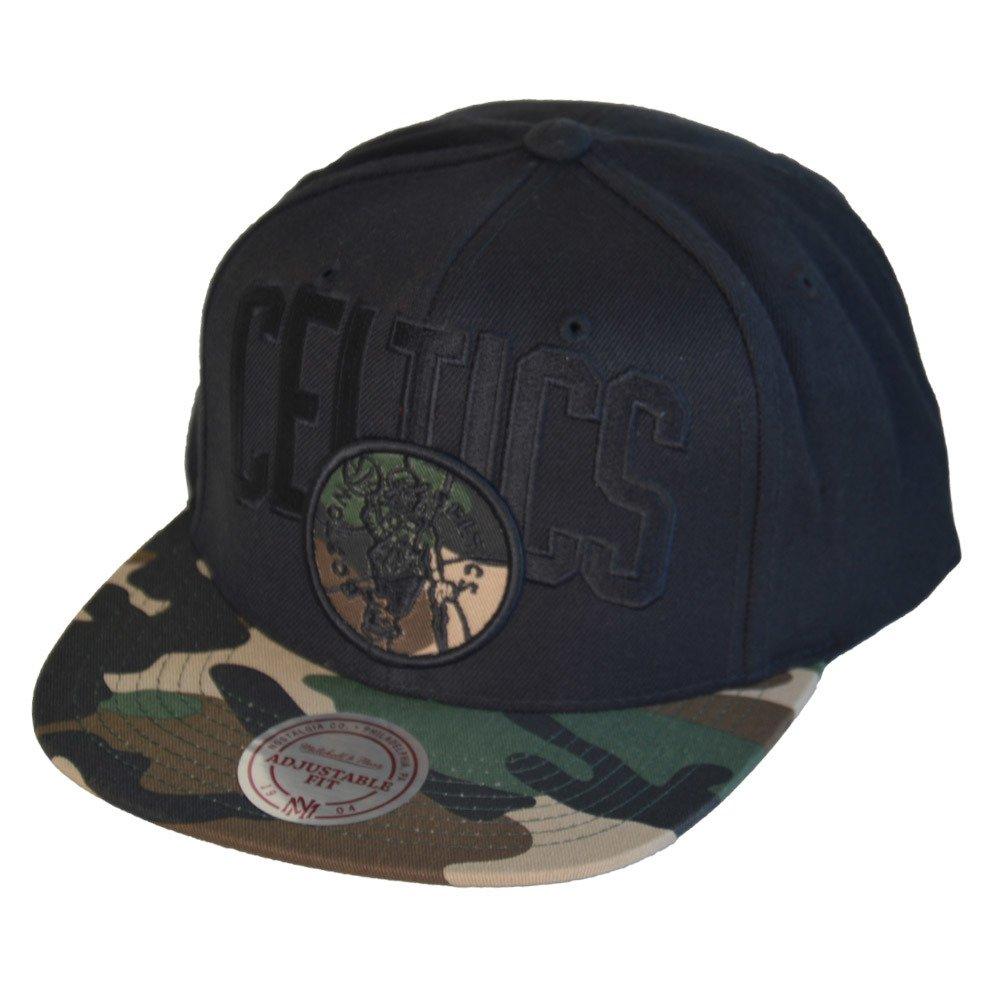 Mitchell /& Ness Cap INTL461 Boston Celtics Schwarz Camo