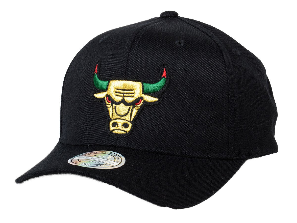promo code da496 cb7a7 Mitchell   Ness NBA Chicago Bulls Luxe 110 Snapback
