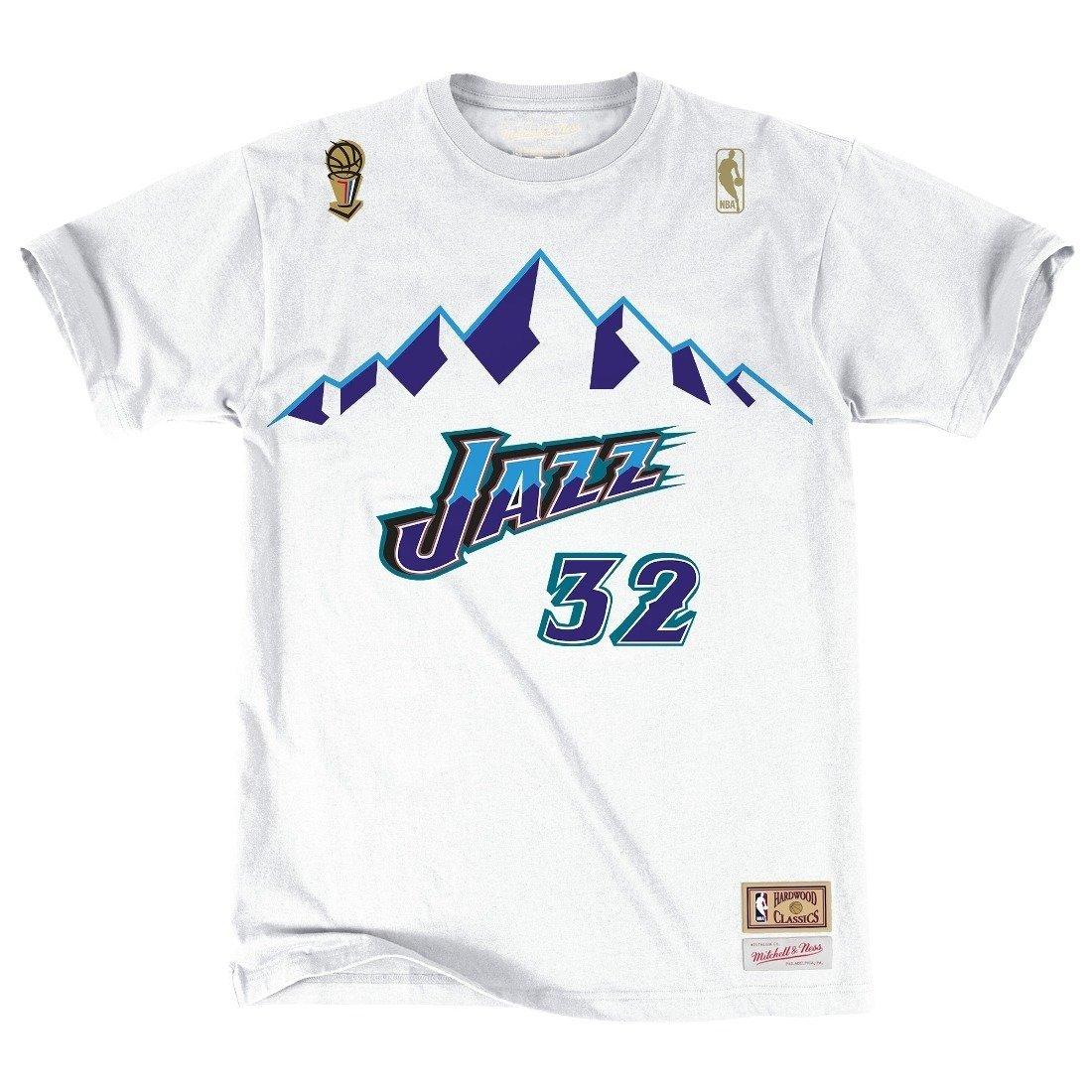 uk availability 73162 651e4 Mitchell & Ness NBA Karl Malone Utah Jazz T-Shirt