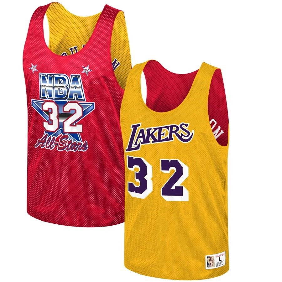 best deals on 56cb9 64954 Mitchell & Ness NBA Los Angeles Lakers/All Star 1991 Magic Johnson  Reversible Mesh Tank