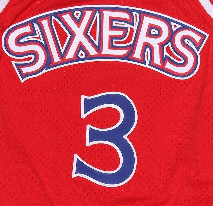 the latest ee9ec 24af7 Mitchell & Ness NBA Philadelphia 76ers Allen Iverson Swingman Jersey