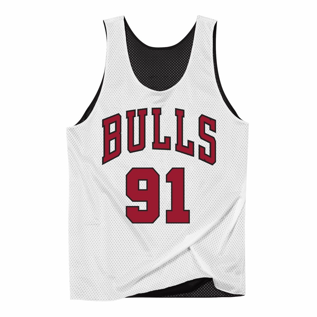purchase cheap e24ad 4641b Mitchell & Ness NBA Reversible Mesh Tank Chicago Bulls Dennis Rodman  NNRMDA18007-CBUBKWH1DRD96