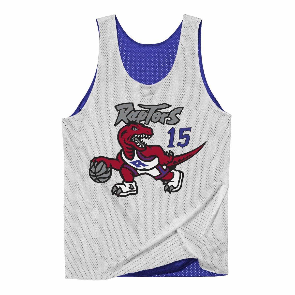 innovative design de6a8 4ad84 Mitchell & Ness NBA Reversible Mesh Tank Toronto Raptors Vince Carter -  NNRMDA18007-TRAPRWH1VCA98