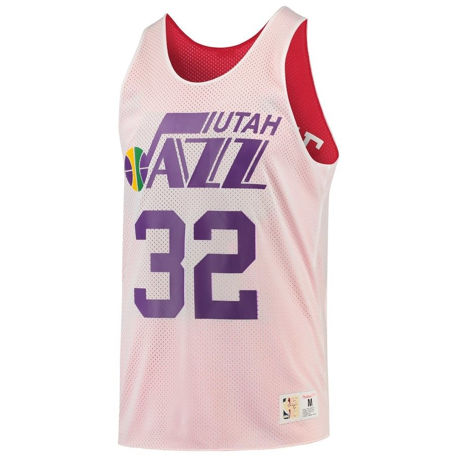 new style cd0db 6f56e Mitchell & Ness NBA Utah Jazz/All Star 1991 Karl Malone Reversible Mesh Tank
