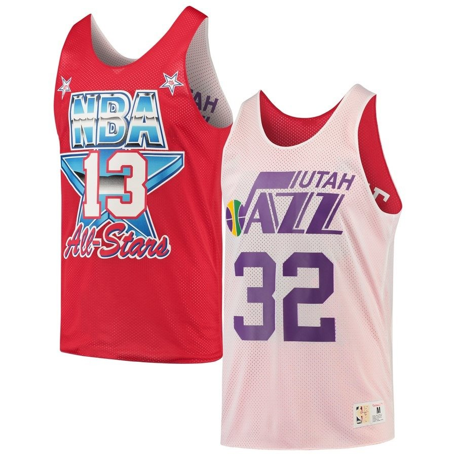new style 560bb b1418 Mitchell & Ness NBA Utah Jazz/All Star 1991 Karl Malone Reversible Mesh Tank
