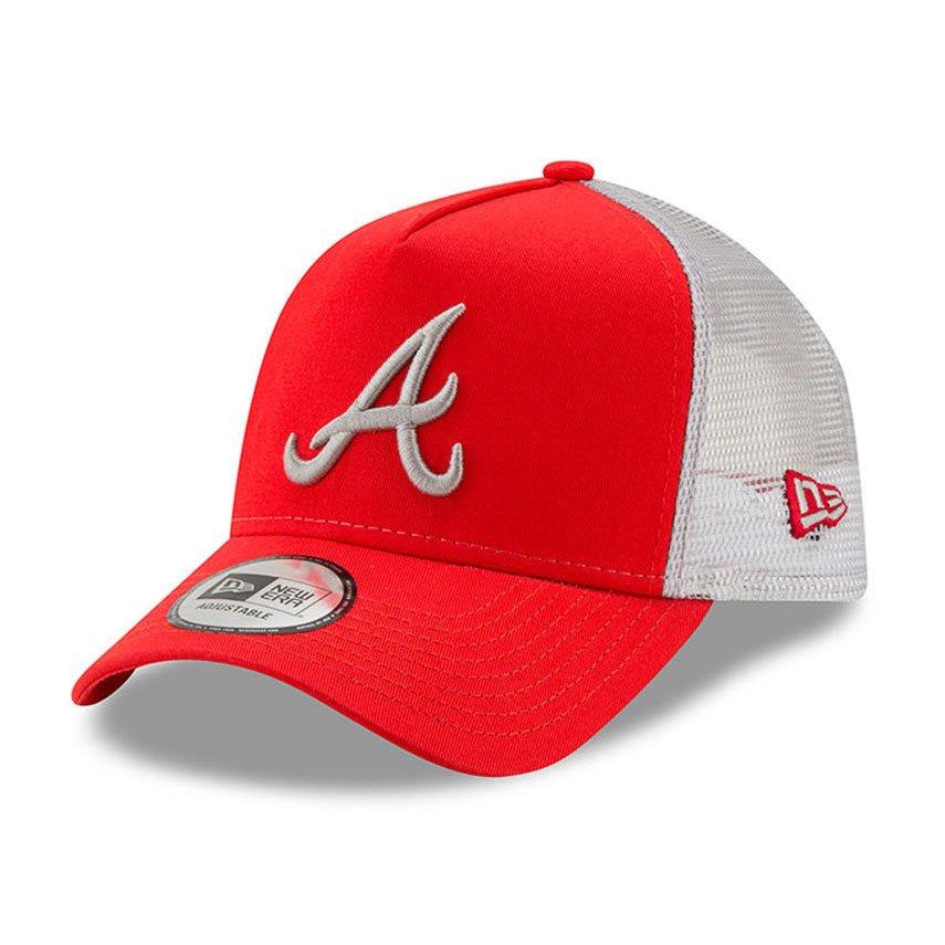 wiele stylów Najlepiej kup dobrze New Era A Frame MLB Essential Atlanta Braves Trucker Cap Red - 11871472