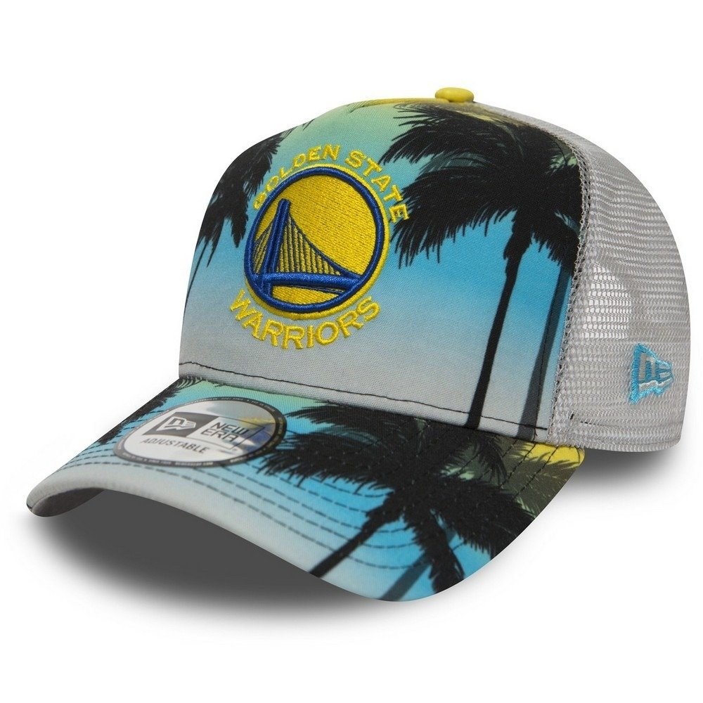 0e3c384280c New Era Coastal Heat NBA Golden State Warriors Trucker Cap - 80581162