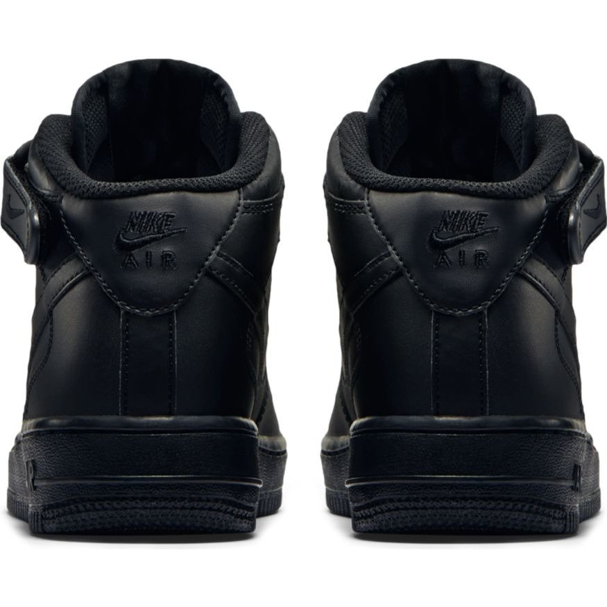 newest 5be0c abed8 ... Nike Air Force 1 Mid GS All Black Shoes - 314195-004 ...