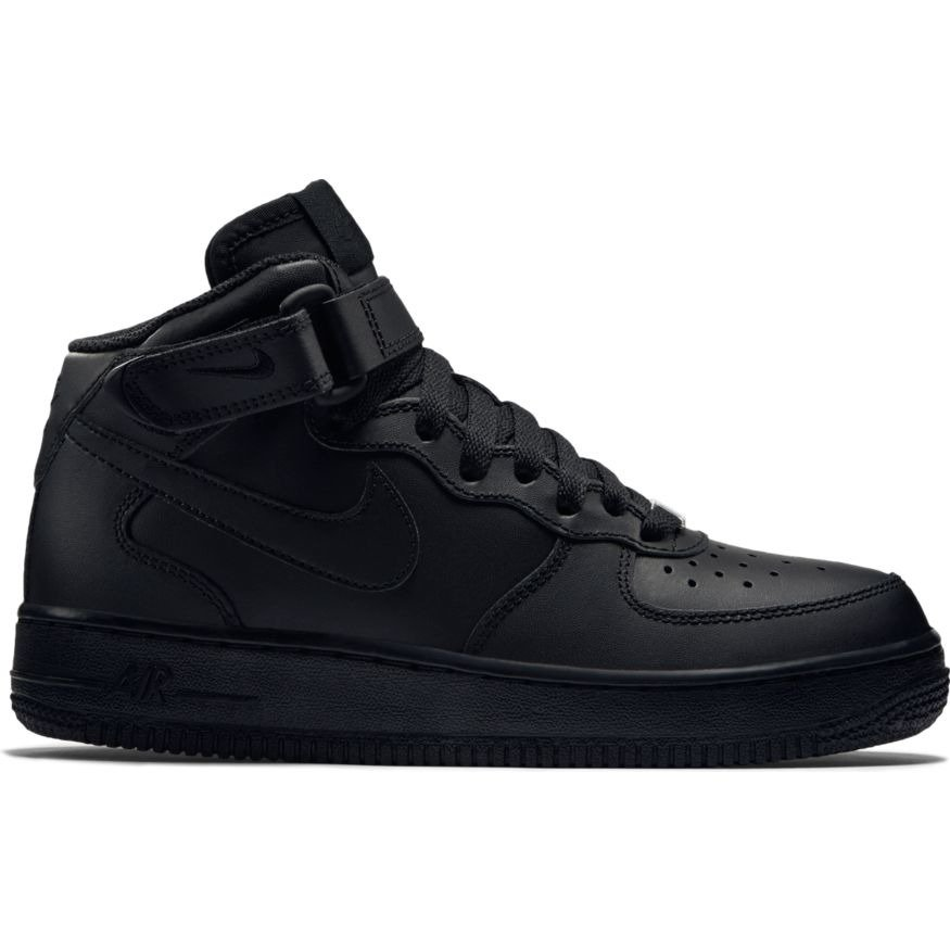 hot sale online ff63d f3762 Nike Air Force 1 Mid GS All Black Shoes - 314195-004