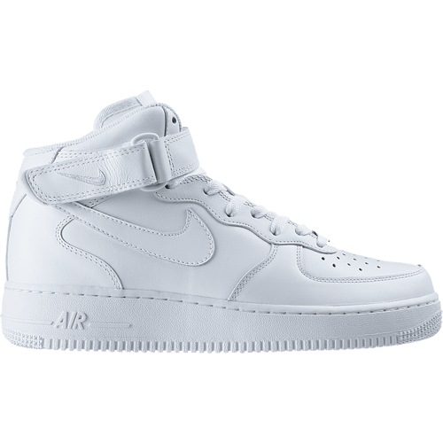 new arrival b98d6 0110c Nike Air Force 1 Mid GS All White Shoes - 314195-113