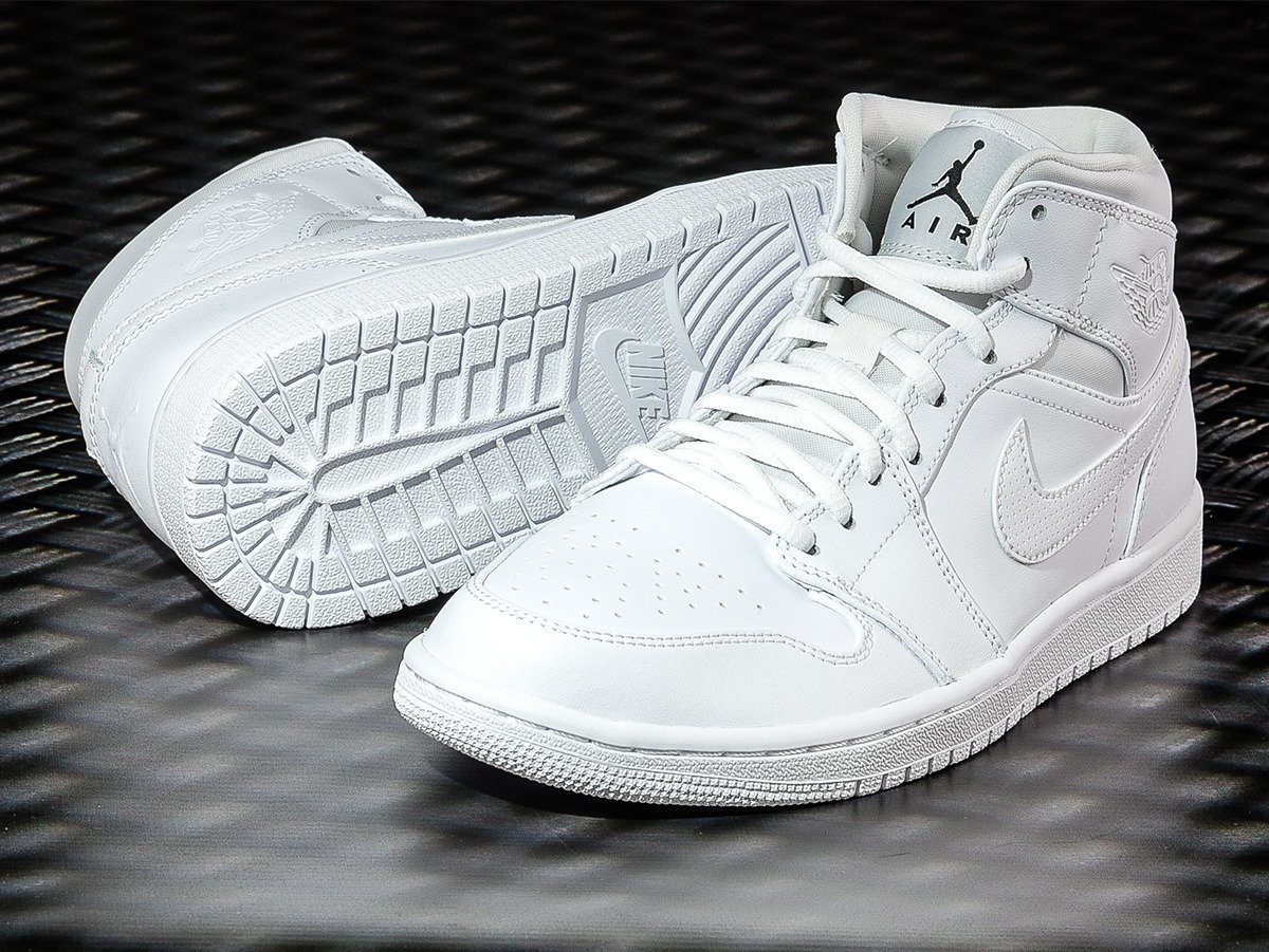 finest selection 641c8 211a6 ... Nike Air Jordan 1 Mid GS Shoes - 554725-110 ...