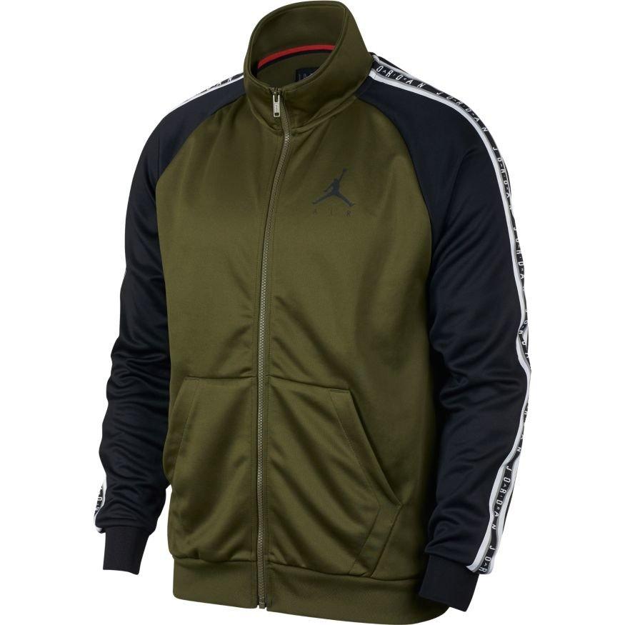 1819b2681f5d Nike Air Jordan Taped Tricot Jacket Olive Canvas