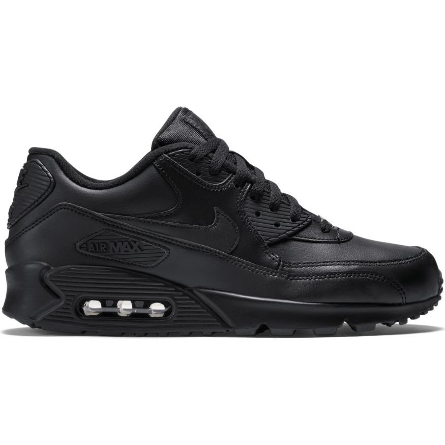 606dcd46fc26 Nike Air Max 90 Leather Shoes - 302519-001 czarny