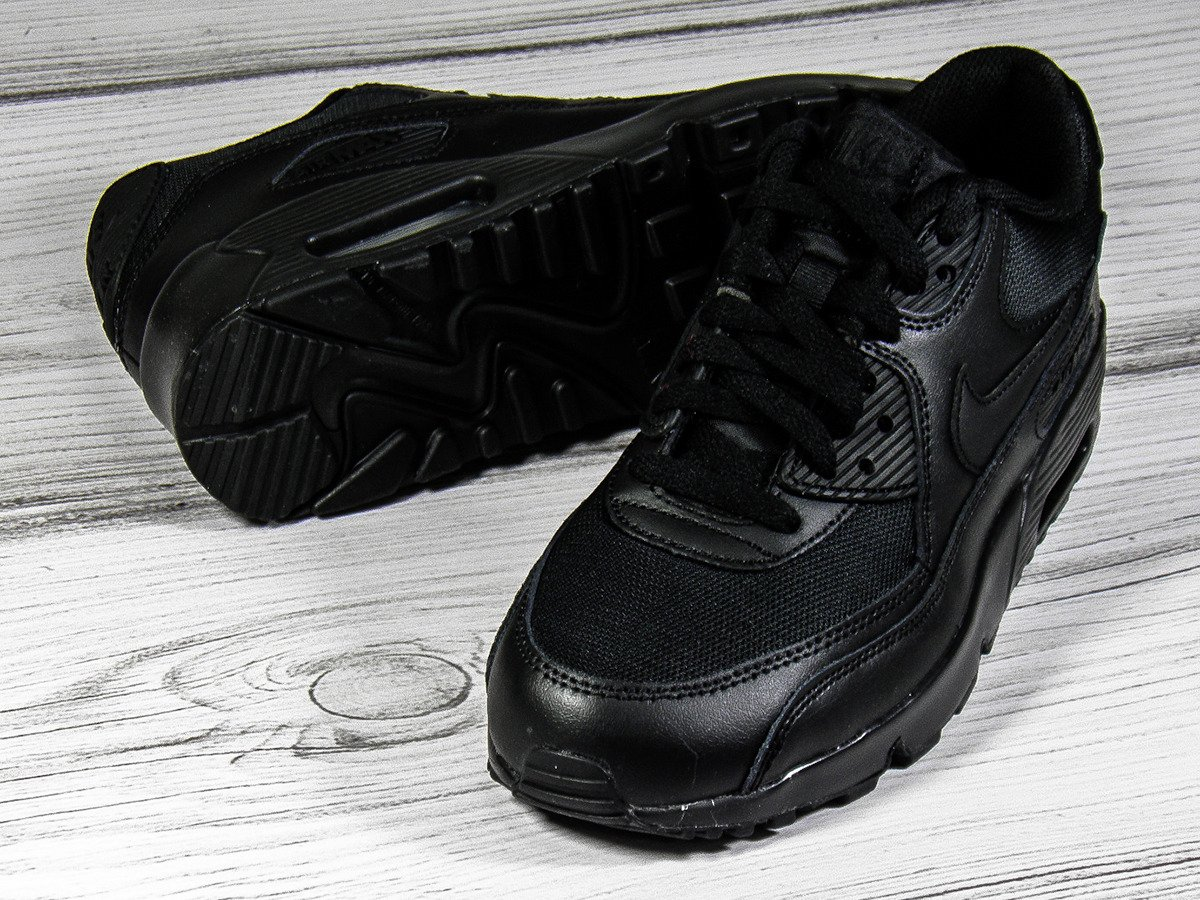 new products a7e28 9d927 Nike Air Max 90 Mesh GS Black Shoes - 833418-001