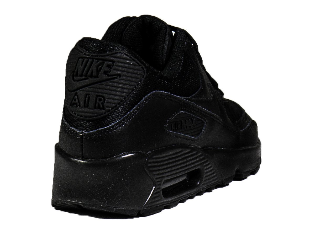 big sale a5d5d b8f36 ... Nike Air Max 90 Mesh GS Black Shoes - 833418-001 ...