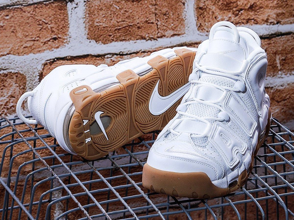 Nike Air More Uptempo White Gum Shoes - 414962-103