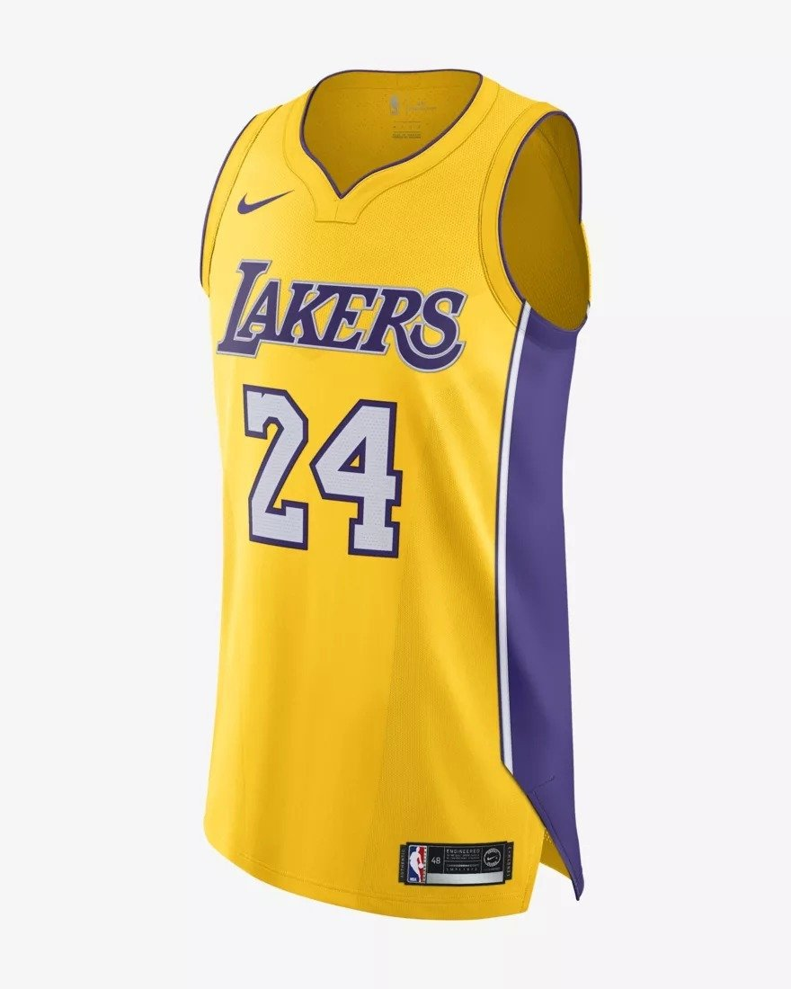 buy popular 66c1a 5c0a4 Nike Authentic NBA Jersey Home Kobe Bryant Jersey - AQ2107-728