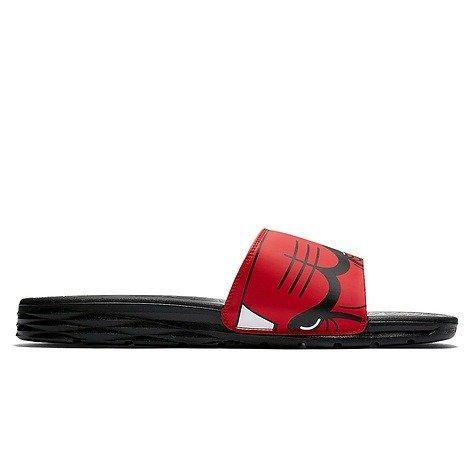 7dcb6e335d70 ... Nike Benassi Solarsoft NBA Chicago Bulls Flip Flops - 917551-600 ...
