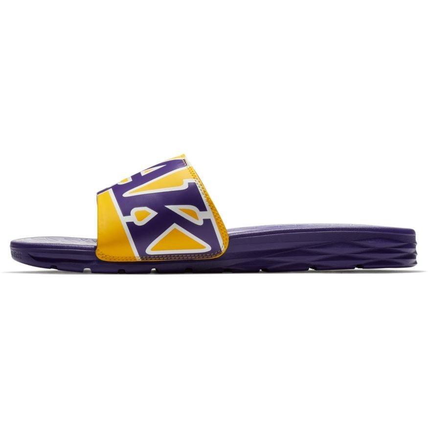 the best attitude 274ab 1b5f7 Nike Benassi Solarsoft NBA LA Lakers Flip Flops - 917551-700